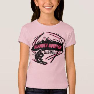 T-shirt Pièce en t rose de ski de filles de Mammoth