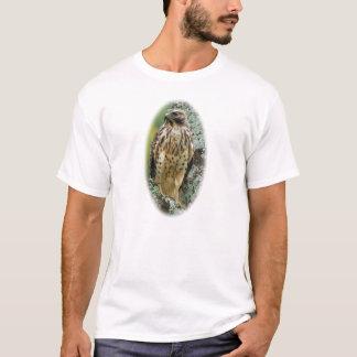 T-shirt Pièce en t Rouge-Coupée la queue de faucon