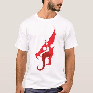 T-shirt Pièce en t rouge de logo de dragon