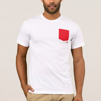 T-shirt Pièce en t rouge de poche