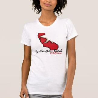 T-shirt Pièce en t rouge de symbole d'ours de Huntington