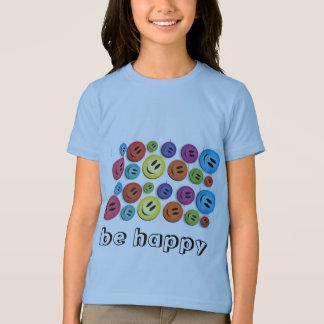 T-shirt pièce en t souriante de visage