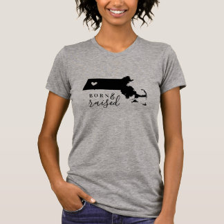 T-shirt Pièce en t soutenue et augmentée du Massachusetts