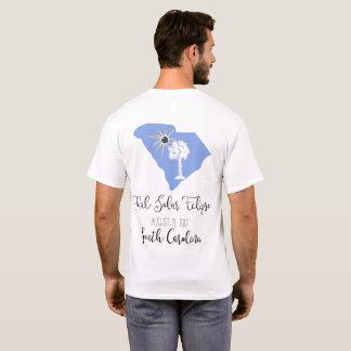 T-shirt Pièce en t totale de blanc de la Caroline du Sud