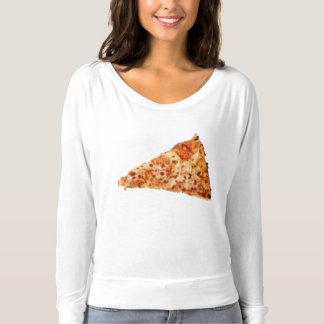T-shirt Pièce en t transparente de pizza
