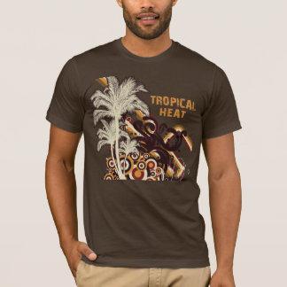 T-shirt Pièce en t tropicale de palmier de la chaleur