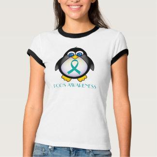 T-shirt Pièce en t turquoise de la sonnerie des femmes de