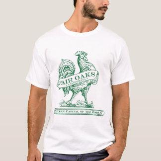 T-shirt Pièce en t verte capitale de poulet