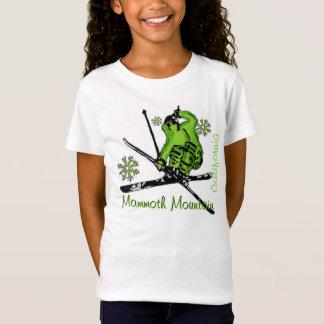 T-Shirt Pièce en t verte de filles de Mammoth Mountain la