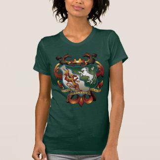 T-shirt Pièce en t verte de Manteau-de-Bras de dames