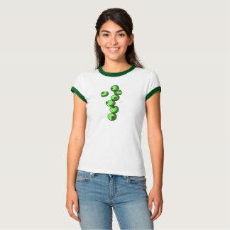 T-shirt Pièce en t verte de myrtilles