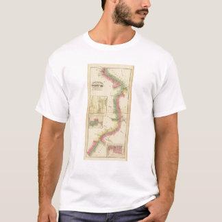 T-shirt Pièce supérieure de la rivière Ohio et de vallée
