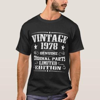 T-SHIRT PIÈCES ORIGINALES VÉRITABLES DU CRU 1978 LIMITÉES