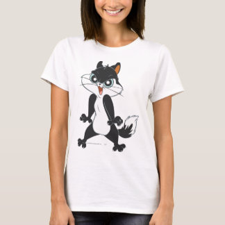 T-shirt Pied Angry2 de chat