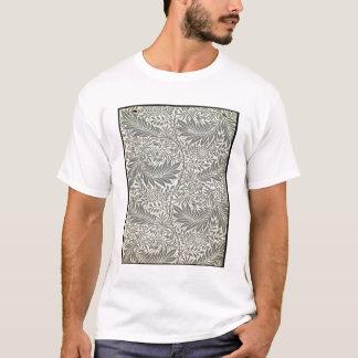 T-shirt Pied-d'alouette, conception de papier peint, 1872