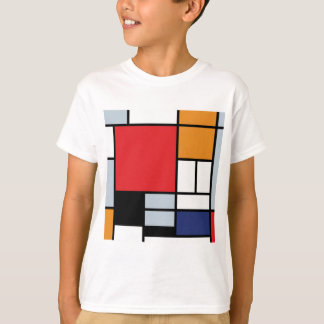 T-shirt Piet Mondrian - composition avec le grand avion