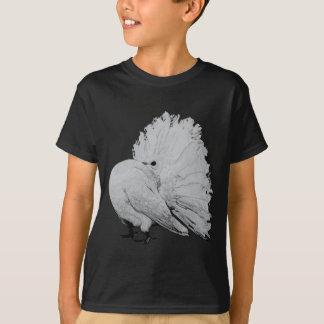 T-shirt Pigeon américain de fantaisie de rose des vents