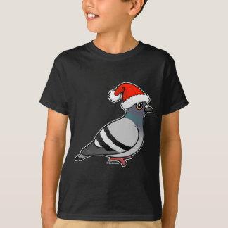 T-shirt Pigeon mignon Père Noël de bande dessinée