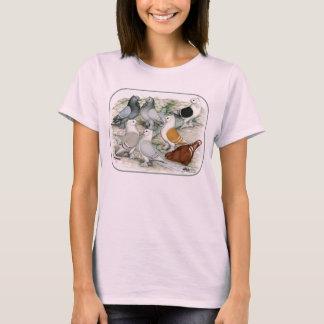 T-shirt Pigeons barrés par vrille classique