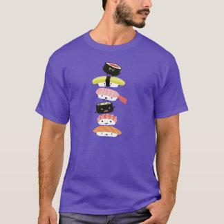 T-shirt Pile de sushi - tour d'amusement des amis de sushi