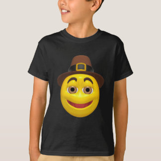 T-shirt Pilgram jaune de bon thanksgiving
