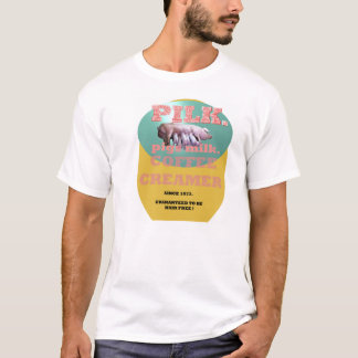 T-shirt PILK. Crémeuse de café de lait de porcs