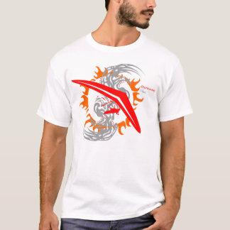 T-shirt Pilote de pays croisé de glissement de coup