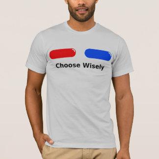 T-shirt Pilule rouge de bleu de pilule