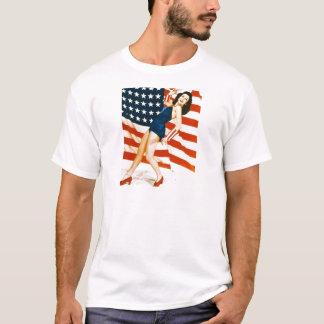 T-shirt Pin-up de cru 4 juillet