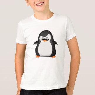T-shirt Pingouin blanc noir mignon et moustache drôle
