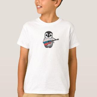 T-shirt Pingouin de bébé jouant la guitare russe de
