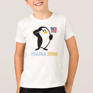 T-shirt Pingouin fier Obama 2008