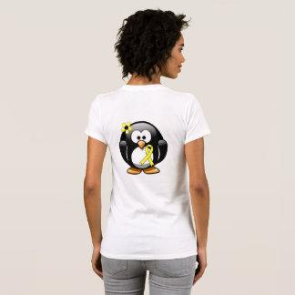 T-shirt Pingouin jaune de ruban