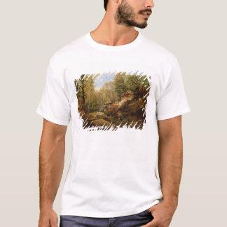 T-shirt Pins et arbres de bouleau ou la forêt de