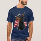 T-shirt Pinscher de dobermann et Belge Malinois avec des