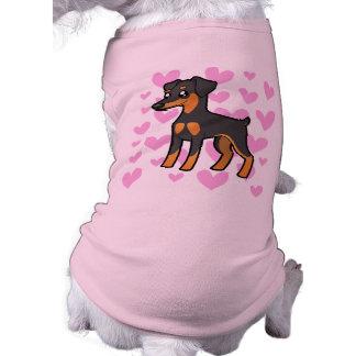 T-shirt Pinscher miniature/amour de Manchester Terrier