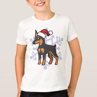 T-shirt Pinscher miniature de Noël/Manchester Terrier