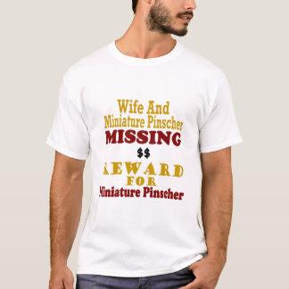 T-shirt Pinscher miniature et récompense absente d'épouse