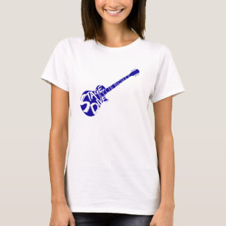 T-shirt Piqué d'étape - Kylie Scott - guitare bleue