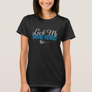 T-shirt Piqué d'étape - léchez-moi bleu sur le noir