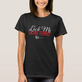 T-shirt Piqué d'étape - léchez-moi rouge sur le noir