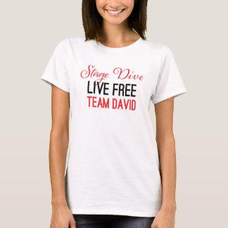 T-shirt Piqué d'étape - vivant librement en rouge