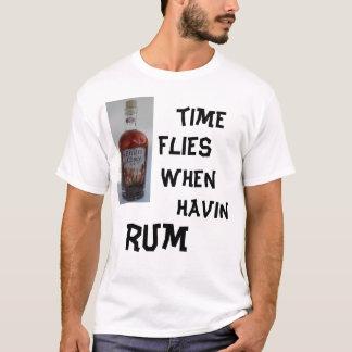 T-shirt pirat4e, temps, mouches, quand, havin, rhum