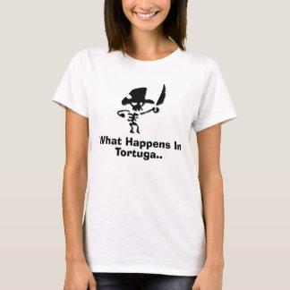 T-shirt Pirate ce qui se produit dans le tortuga