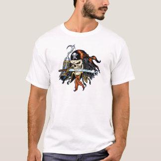 T-shirt Pirate de crâne avec l'épée et le crochet par Al