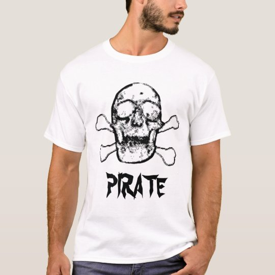 T-SHIRT PIRATE EN ROUGE