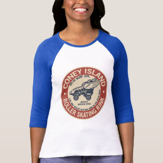 T-shirt Piste vintage de rouleau de Coney Island