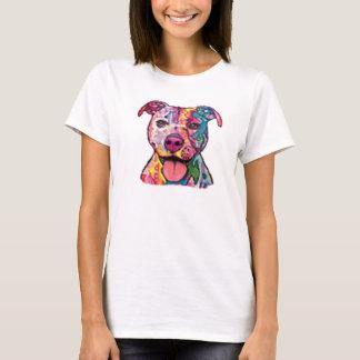T-shirt Pitbull coloré