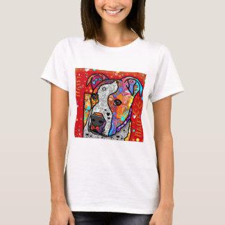 T-shirt Pitbull cosmique - coloré lumineux - idée de