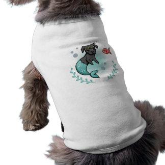T-shirt Pitbull de sirène